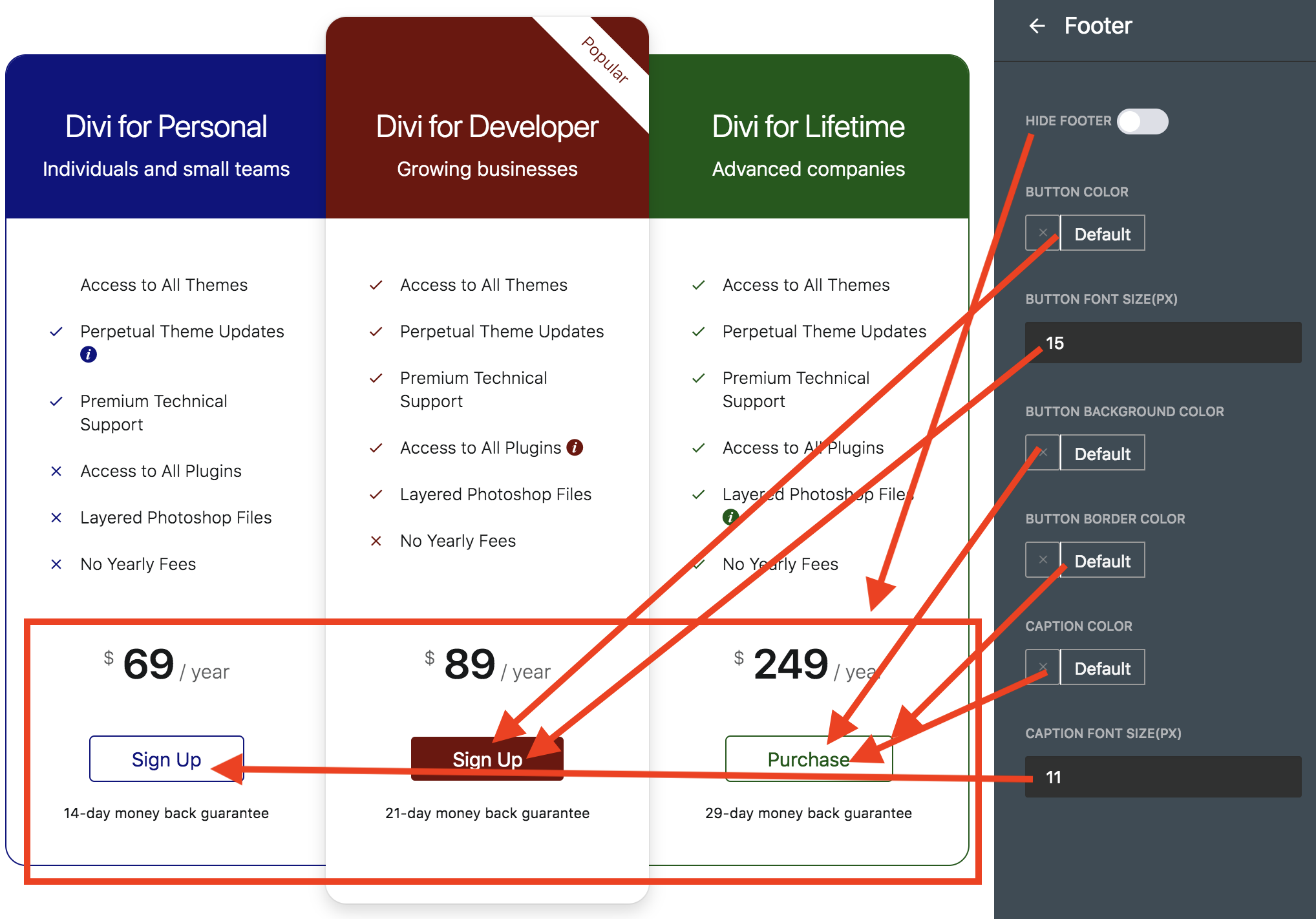 Create Divi Pricing Table Using Pricing Table Builder