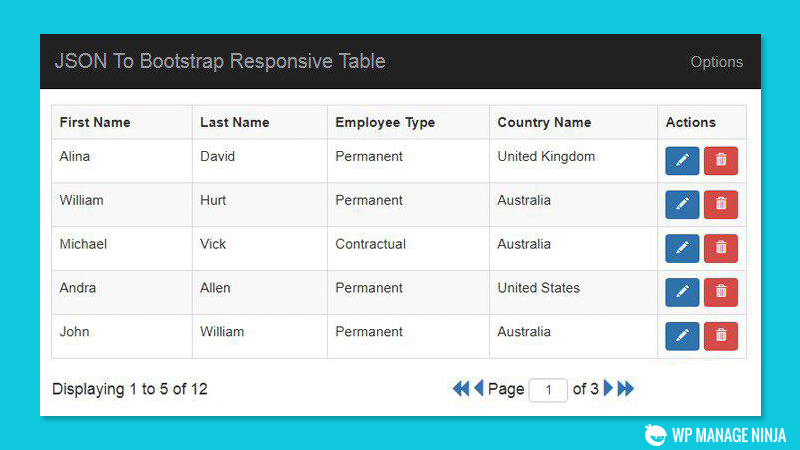 best suited jQuery table plugins