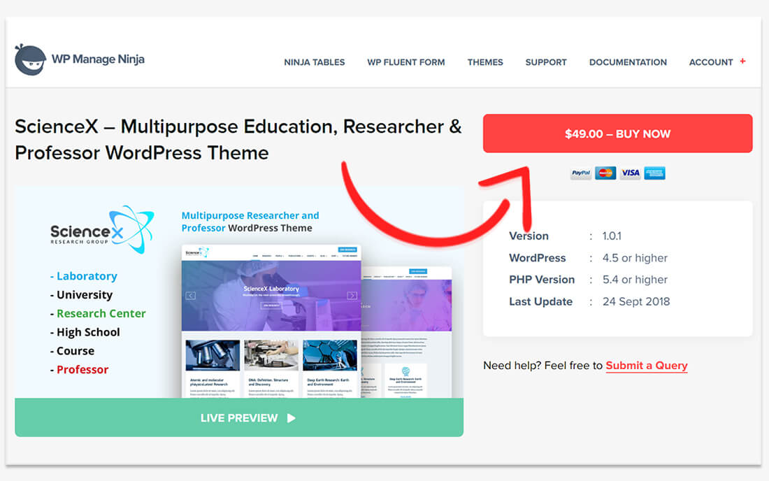 Create Your Website with Science-X WordPress Education Research