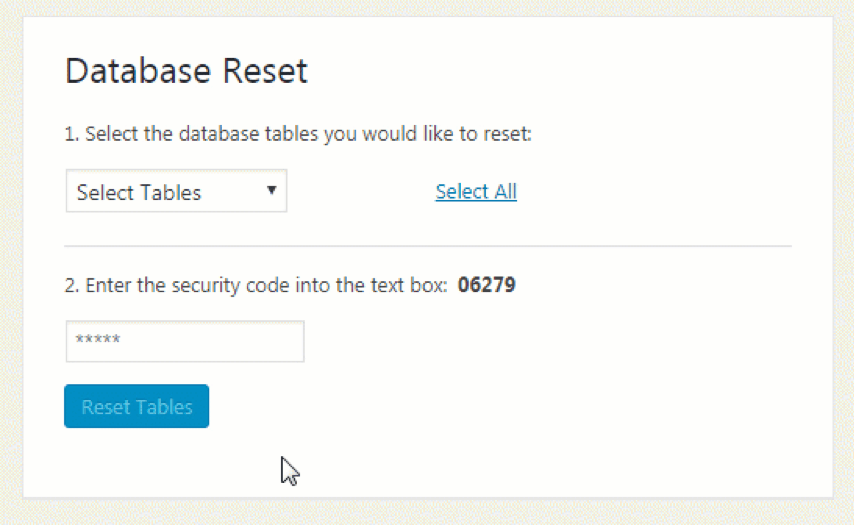 WordPress Reset Plugin
