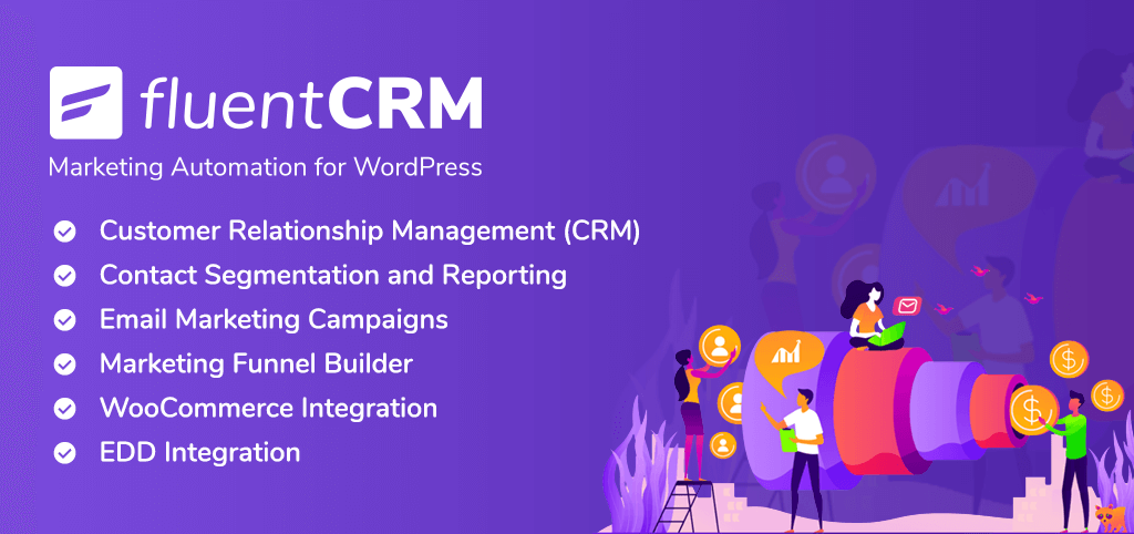 fluentcrm, wordpress crm, wordpress email marketing plugin