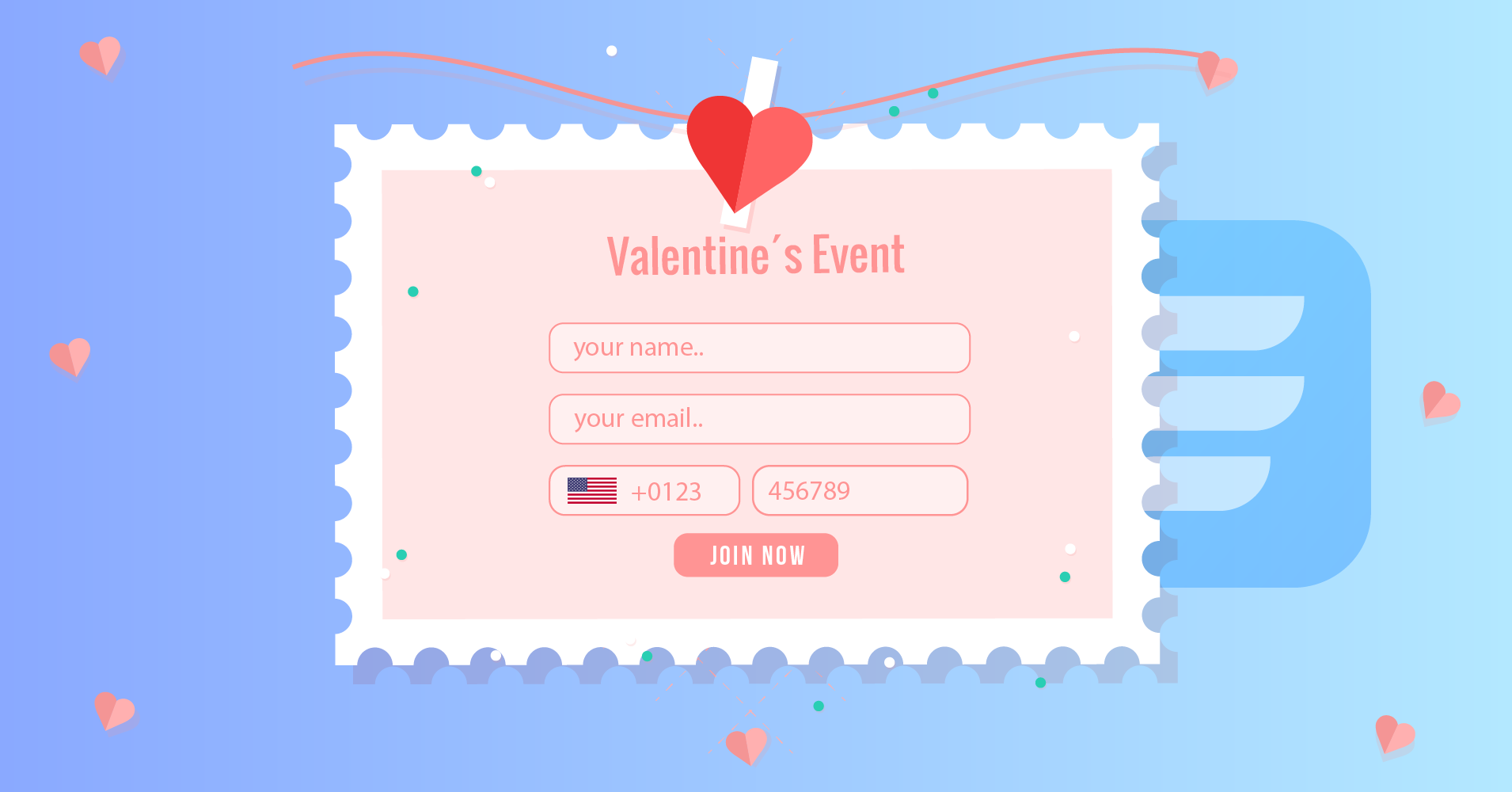 Fluent Forms - valentine's day promotions
