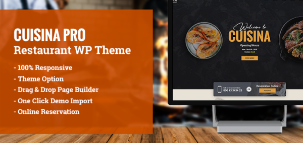 Cuisina Pro – Restaurant WordPress Theme